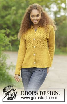 Cornfield by DROPS Design. Free #knitting pattern