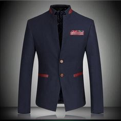 2015 New Chinese Famous Brand Blazer Men Dress Suits Mens Business Fashion Stand Collar Coats Men's Blazers Suit Jackets k8531 | Borderless Mega eStore!