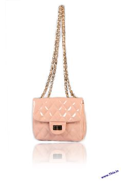 Trendy Quilted Baby Pink Sling -   Body Crafted In Leather Look Fabric, Long Line Chain Shoulder Strap, Fold Over Flap with a Gold-Tone Twist Lock Fastening, Zipped Compartments in the Lining, Secured Body through Zip Mouth Opening, Hardware In Gold........ - Rs. 1,600.00