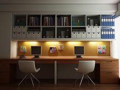 #WindowsMilwaukeeReplacement Study Room Designs. Love the lighting underneath the shelves.