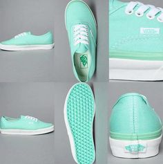 Tiffany blue vans-need! Tiffany blue is my favorite color! Azul Tiffany, Tiffany Blue Vans, Bleu Tiffany, Mint Vans, Green Vans, Pastel Vans, Teal Shoes, Colors, Fashion Shoes