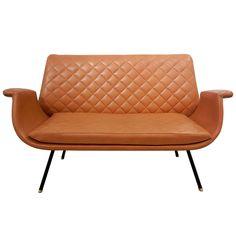 1stdibs.com | Italian Mid-Century Quilted Settee/Sofa
