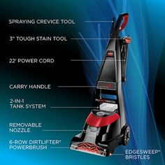 Bissell Bissell ProHeat® Essential Upright Carpet Cleaner | Wayfair Deep Carpet Cleaning, How To Clean Carpet, Diy Carpet Stain Remover, Water Storage Containers, Grease Remover, Carpet Cleaners, Carpet Stains, Vacuums, How To Look Better
