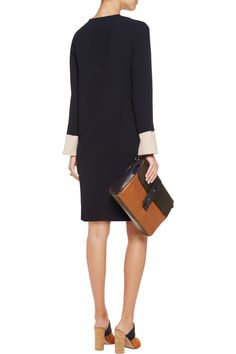 Iris and InkMargo two-tone crepe mini dressback