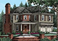 Burnt Hickory - Home Plans and House Plans by Frank Betz Associates