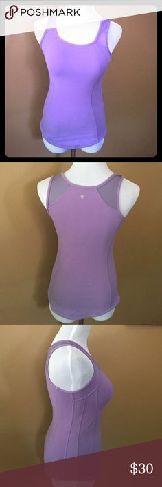 Lululemon top Lavender Lululemon top, size 4. Good used condition. Length 24 inches. lululemon athletica Tops Tank Tops