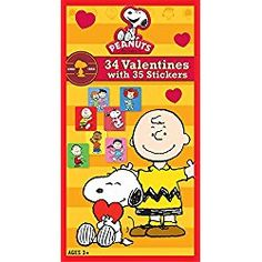 Paper Magic Peanuts Deluxe Valentine Exchange Cards with Bonus Stickers Count) Paper Magic, Grumpy Cat, Valentine Day Cards, Cool Cards, Peanuts, Count, Barbie, Snoopy, Stickers