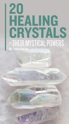 Learn about 20 common healing crystals. Use this ultimate crystal healing guide and discover how Mother Earth's magic can help you heal your life naturally.