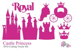 SVG Vector Die Cut Castle Princess by pdeasyprint on Creative Market