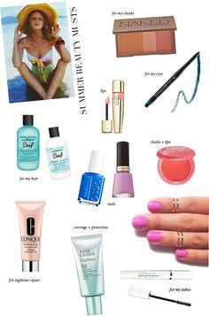 Summer Beauty Musts 2013