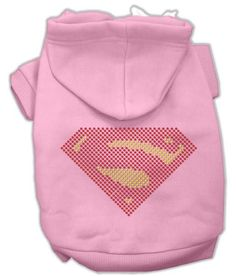 Super! Rhinestone Hoodies Pink XXXL(20)