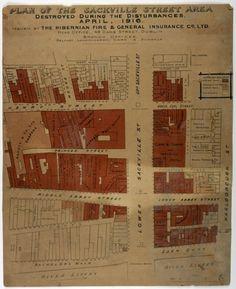 Map of destroyed Dublin - Taisclann Dhigiteach na hÉireann Ireland 1916, Easter Rising, Dublin, Map, How To Plan, Digital, Location Map, Cards, Maps