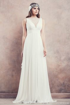 Today's utterly divine gowns, inspired by the romance of a sun-drenched Tuscan landscape, come courtesy of the aptly named Divine Atelier, a Romanian White Wedding Gowns, Wedding Dresses 2014, Beautiful Wedding Gowns, Bridal Dresses, Bridesmaid Dresses, Romanian Wedding, Divine Atelier, Ceremony Dresses, Wedding Ceremony