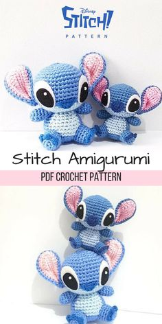 I think Stitch is one of the most popular Disney figures and now you can make your own Stitch Amigurumi with this crochet pattern. #stitch #ad #amigurumi #pattern