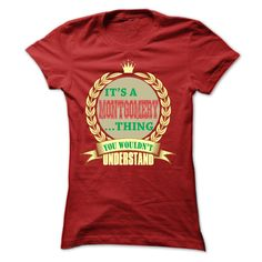 It's a MONTGOMERY You Wouldn't Understand T-Shirts, Hoodies. SHOPPING NOW ==►…