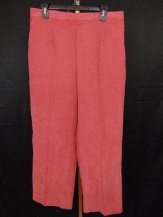 b511d734d88 Alfred Dunner Plus Size Proportioned Short Pants Pink Comfort Waist NWOT   AlfredDunner  CasualPants Store