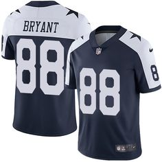 e5acb618f7b Nike Cowboys #88 Dez Bryant Navy Blue Thanksgiving Men's Stitched NFL Vapor  Untouchable Limited Throwback. Dallas Cowboys JerseyJersey ...