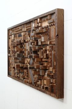 Reclaimed wood city scape wall art by CarpenterCraig on Etsy