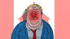 """Rob Ford, """"Toronto's Crack Smoking Mayor"""" #caricatures #politics #cartoon #comix #comics"""