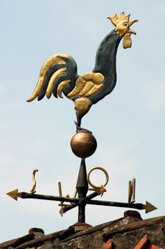 weather vane on a gray background