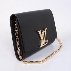 Louis Vuitton 2013 New Evening Clutch Chain Louise M94335 Black