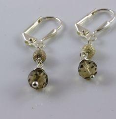 Quartz earrings silver earrings gemstone earrings by julwelry, $29.00