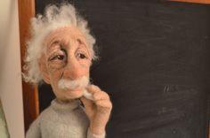 Here is my take on Einstein chalk in hand.