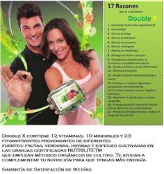 Double x Ayuda a nuestro cuerpo estar bien Nutrido y con Energuia www.naturalesnokua.com.co