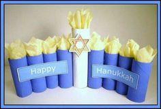 Hanukkah crafts - use poster board to enlarge