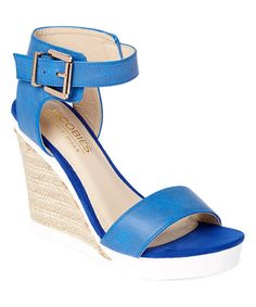 Look what I found on #zulily! Blue Telma Ankle-Strap Sandal #zulilyfinds