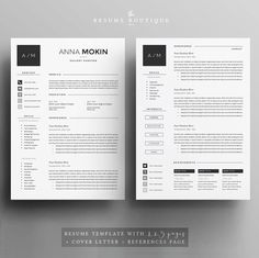 5 page curriculum vitae / modèle de CV lettre de motivation