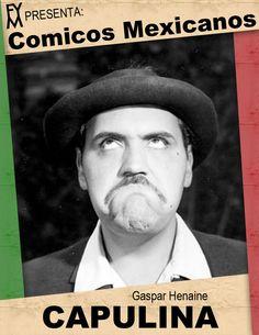 """Gaspar Henaine Pérez """"Capulina"""". Su padre fue Antonio Henaine Helú, inmigrante libanés. Capulina nació el 6 de enero de 1926, en Chignahuapan, Puebla. Su padre era de origen libanés y su madre poblana. Cuando contaba con seis años, se mudó con su familia a la Ciudad de México. Fue un actor, comediante, músico, cantante, productor de cine y guionista mexicano, quien saltó a la fama cuando se asoció con Marco Antonio Campos creando el famoso dueto cómico y musical Viruta y Capulina"""
