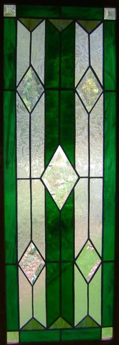 Green window with bevels