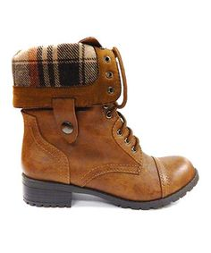 Tan Oralee Fold-Over Boot by SODA #zulily #zulilyfinds
