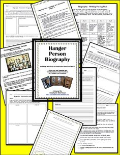 Hanger Person biography.  PERFECT for President's Day or Black History Month $