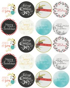 Free Printable Labels In A Vintage Style Christmas Labels
