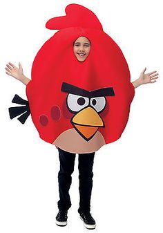 New Red Angry Birds Child Boys / Girls Costume Party Prop One size 7-8 10-12 - http://clothing.goshoppins.com/costumes-reenactment-theater/new-red-angry-birds-child-boys-girls-costume-party-prop-one-size-7-8-10-12/