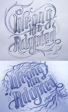 sketches for a bandlogo - Mortani  typography