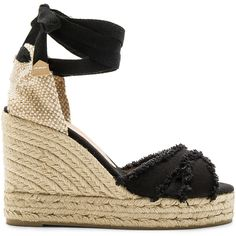 Castaner Bluma Wedge ($155) ❤ liked on Polyvore featuring shoes, sandals, synthetic shoes, wedges shoes, platform sandals, braided sandals and platform wedge sandals
