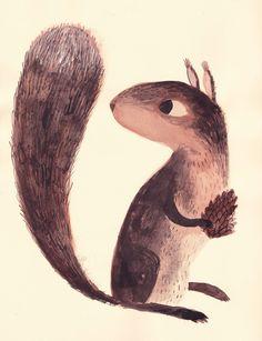 "Chuck Groenink, ""Squirrel"". :)  https://society6.com/product/squirrel-2x7_print?curator=ayla160"