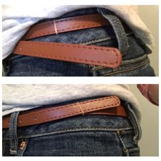 Ever have that belt that just won't reach the next belt loop? Take a tiny rubber band to fix that problem!