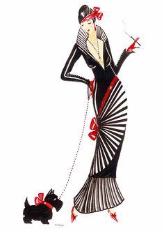 Art Deco Lady - Darcey Poster By Di Kaye