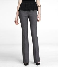 STUDIO STRETCH WIDE WAISTBAND FLARE EDITOR PANT   Express