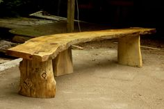 Large Rustic Bench.   Could use this for the cabins/firepit