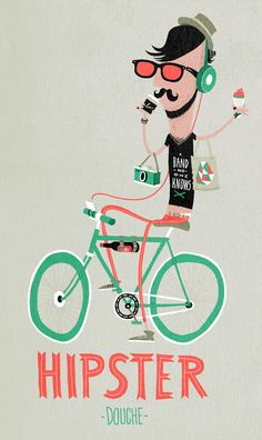 hipster douche - by Nozzman -