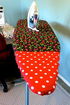 Nothing perks up your sewing space like a new ironing board cover. Here's a super quick version that's easy enough for first-time sewers.