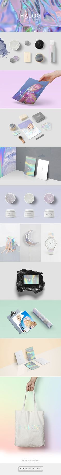 Halog Cosmetics Branding by Katerina Petridou Web Design Agency, Brand Identity Design, Graphic Design Branding, Corporate Design, Branding Agency, Business Branding, Identity Branding, Brand Packaging, Packaging Design