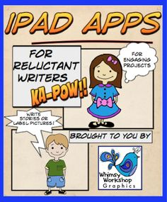 Ipad Apps for Reluctant Writers {with a FREEBIE}