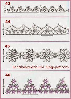 crochet home: crochet edges Irish Lace, Crochet Home, Thread Crochet, Crochet Patterns, Crochet Edgings, Band, Crochet Clothes, Doilies, Mittens