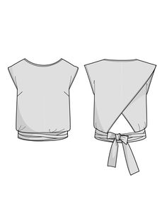 Buy the Épicéa Blouse sewing pattern from Orageuse, a short straight-cut blouse with a long double belt that is tied around the hips. Clothing Patterns, Sewing Patterns, Clothing Items, Blouse Patterns, Sewing Clothes Women, Clothes For Women, Free Clothes, Sewing Blouses, Diy Kleidung